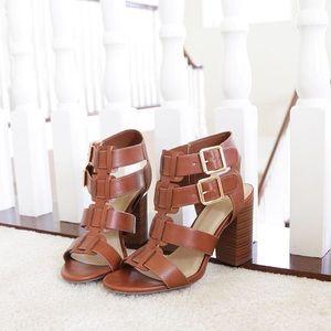 aunt tan cage t-strap sandal